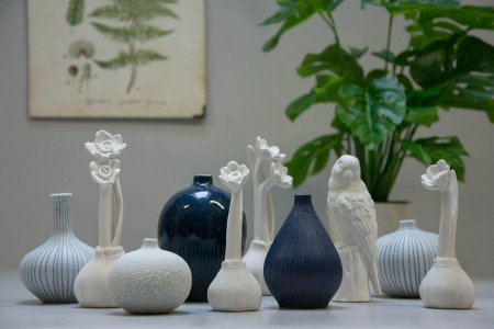 Påskedekoration 2018 - Lindform vaser og blomsterløg i porcelæn