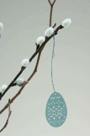 hængende påskeæg metal - grøn