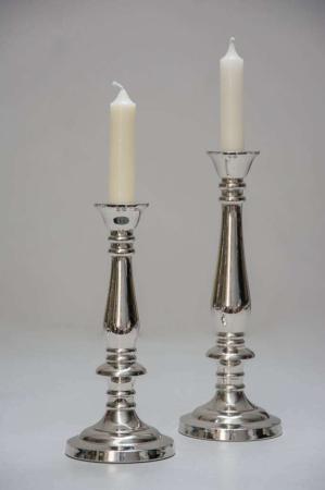 Enkel sølv lysestage i to størrelser