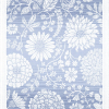 Økologisk Ekelund bordløber af stof - blå med hvide blomster