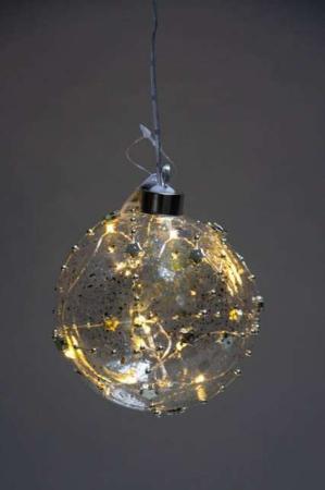 Julekugle med led lys