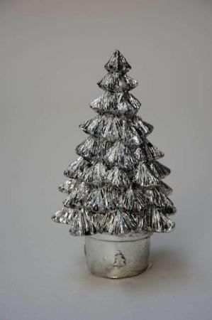 Lille sølv juletræ