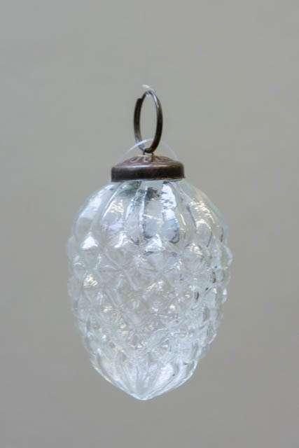 Glas juletræskugle fra Ib laursen - glas kogle