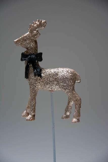 Guld rensydr på pind til juledekorationen 2