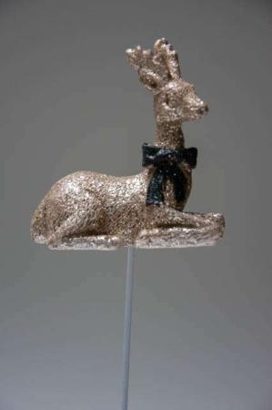 Guld rensydr på pind til juledekorationen