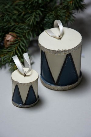 Juleophæng - blå juletromme fra La Vida