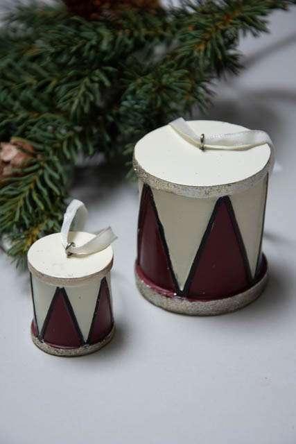 Juleophæng - bordeaux juletromme fra La Vida