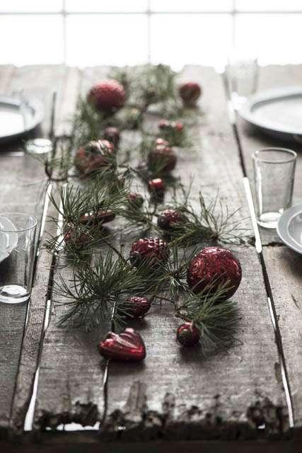 røde julekugler fra ib laursen af glas