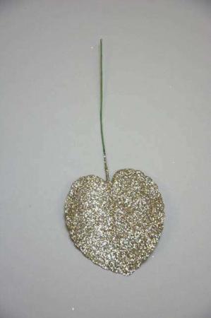 Dekorations blad med glimmer