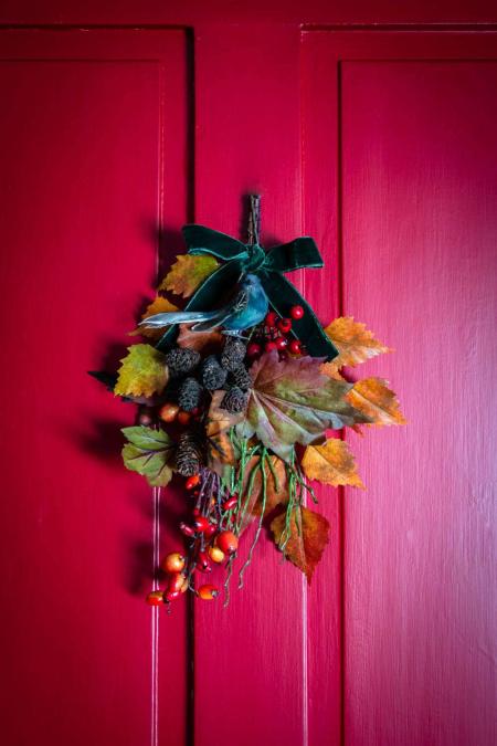 Efterårspynt til døren