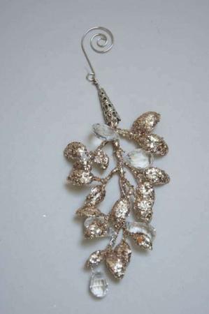 Guld blad med perler