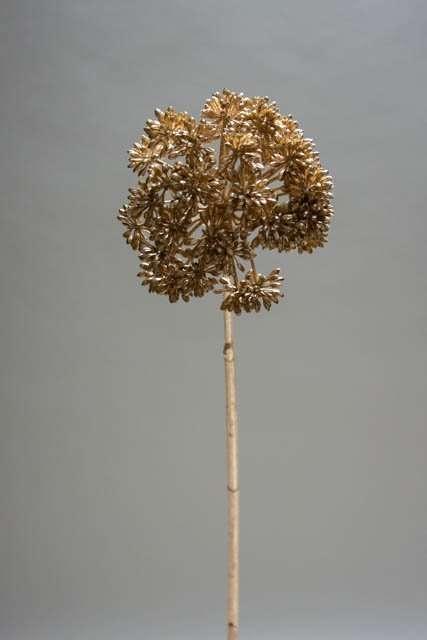 Gyldent blomsterhoved - kunstig