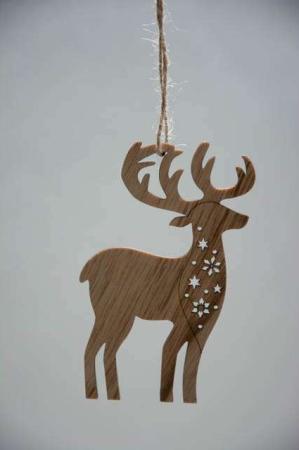Jule elg af træ - juleophæng