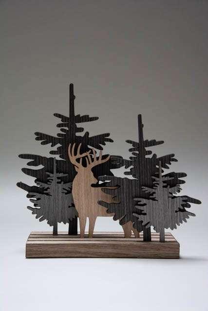 Julepynt - skov silhuetter