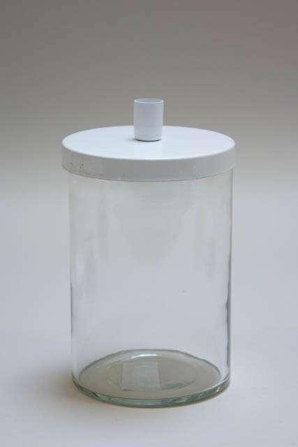 Julestage - kalenderlys glas til juletræslys - hvidt låg