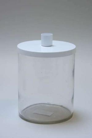 Julestage - kalenderlys glas til små bedelys med hvidt låg
