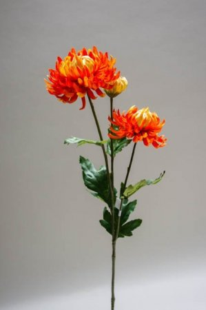 Kunstig blomst - chrysantemum orange