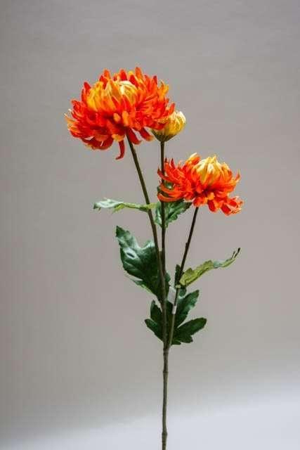 Kunstig blomst - chrysantemum orange