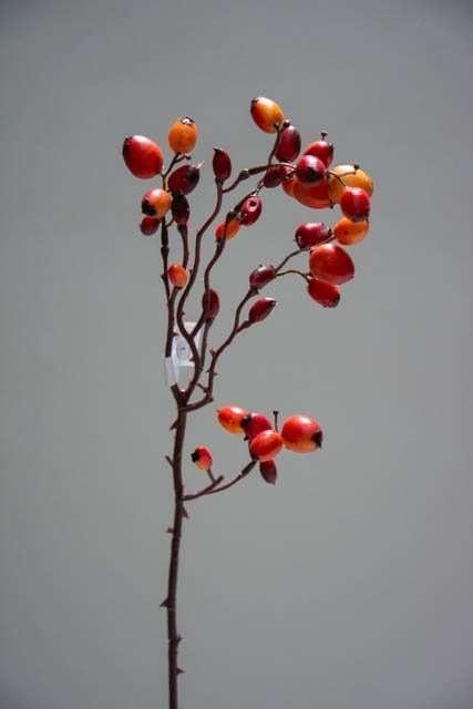 Kunstig efterårsgren med orange og røde bær