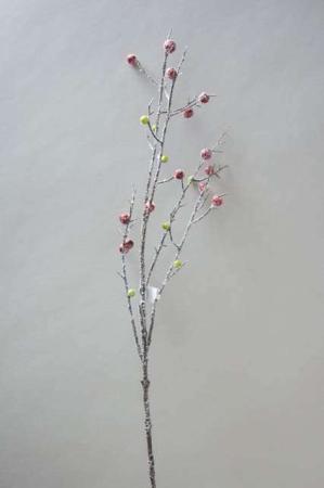 Kunstig gren med bær og frost look