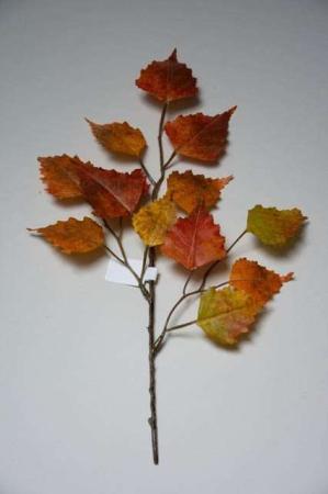 Kunstig gren med efterårsblade - birk