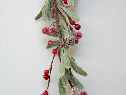 Kunstig guirlande med frost look