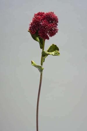 Kunstig rød blomst - sedum