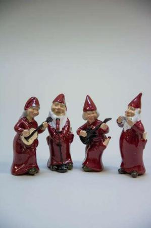 Nisse orkester - røde nisser fra Harvesttime