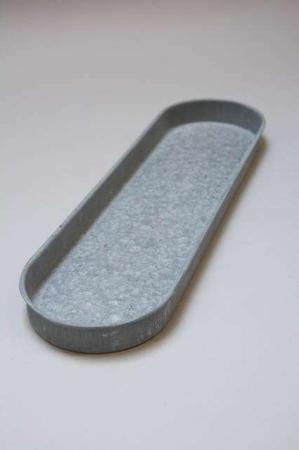 Oval zink bakke