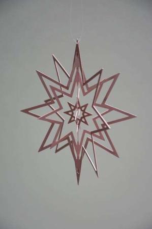 Rosa julestjerne - juleophæng