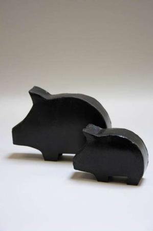 Sort gris af metal fra ib laursen