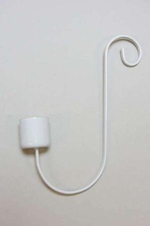 s-formet lysestage til t hænge på kanten af et glas - hvid