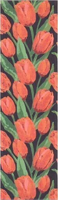 Økologisk bordløber fra Ekelund - tulipner - Jultulpan 35x120