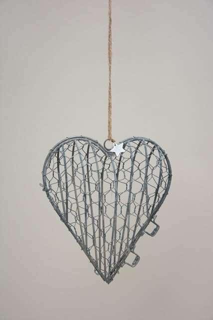 Hjerteophæng i metal