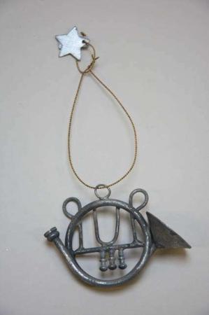 Juleophæng - instrument af zink i messing wire
