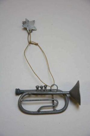 Juleophæng - trompet af zink i messing wire