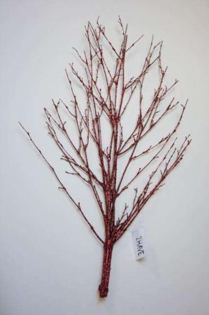 Kunstig gren med rød glimmer