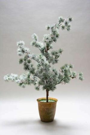 Kunstigt lærketræ i potte m. frost look