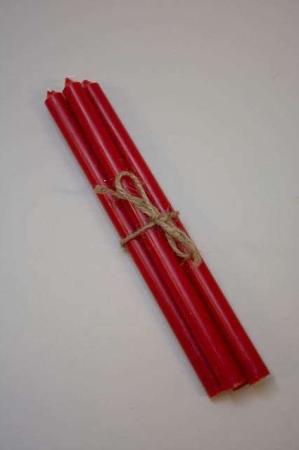 Lange røde kertelys