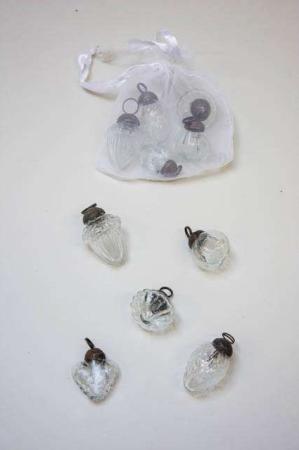 Pose med 10 små julekugler fra Ib Laursen - klar glas