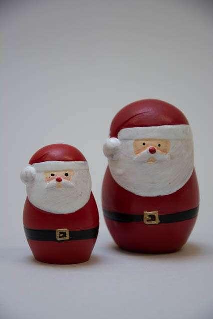 Små tykke julemænd