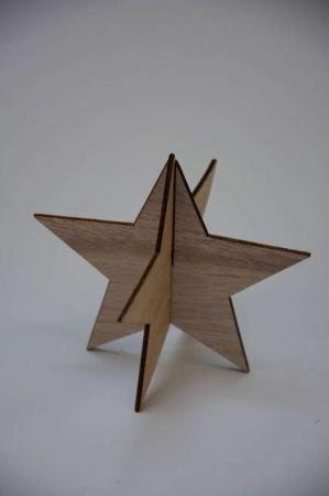 3D julestjerne af træ