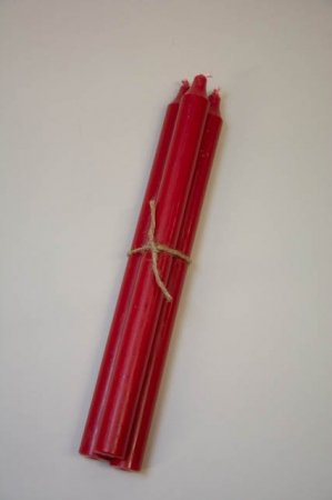 Rødt stearinlys