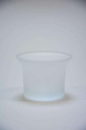 Fyrfadsstage i matteret glas