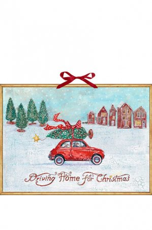 Gammeldags låge julekalender - driving home for christmas