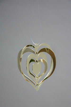 Guld hjerte - juleophæng