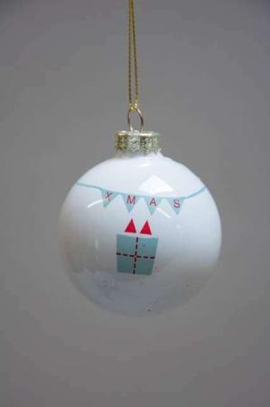 Julekugle af plast fra Ib Laursen - xmas pakke