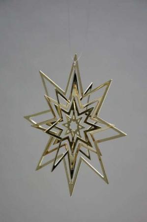 Julestjerne - juleophæng - guld