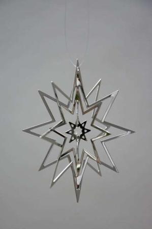 Julestjerne - juleophæng - sølv
