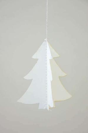 Papirklip til jul - juletræ af papir